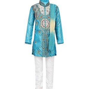 Boys sherwanni and breeches dupatta set size 1